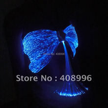 Sexy optical fiber fabric luminous bra for club performance/fashion show/Singular dress/Show Clothing