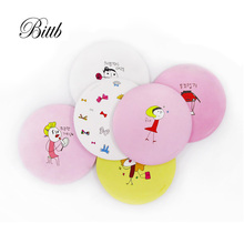 Bittb 50Pcs Small Kawaii Cartoon Pocket Mirror  Makeup Compact Mirrors Portable Mini Cosmetics Hand Mirror Beauty Make Up Tools