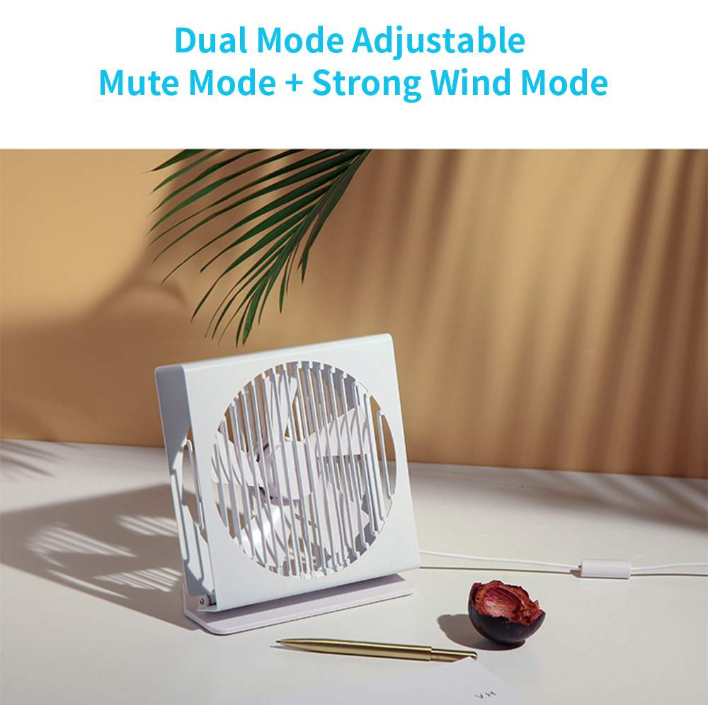 Xiaomi VH CE 7 Inch Portable Mini Metal Mute Fan Dual Mode Home Office Desk Brushless Motor Fan