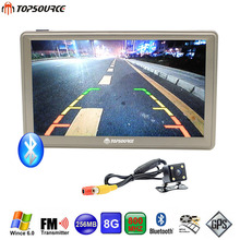 TOPSOURCE Car GPS Navigation 7'' Win CE 6.0 Bluetooth AVIN 8GB/256MB Wireless Rearview Camera Europe USA Russia Navitel Map Free(China)