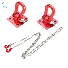 1:10 RC Metal Trailer Hook and Tow Chain for 1/10 D90 Axial SCX10 Tamiya CC01 D110 TF2 RC Rock Crawler Car Decor Accessories(China)