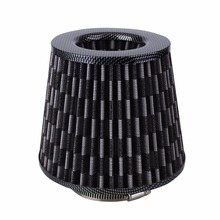 Vehicle Car Cold Air Intake Filter Cleaner Washable Reusable Excellent Filtration Air Filter Adjustable Fitting