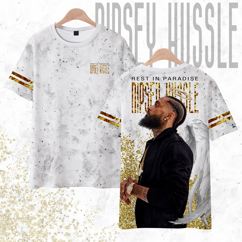 Fashion singers nipsey hussle 3D Print T-Shirt Women//men/'s Casual Short Sleeve