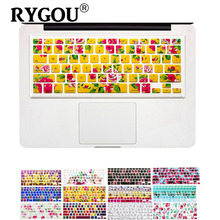 Flower Floral Nature Design keyboard Cover stickers for Macbook Air 13 Pro 13 15 17 inch laptop iMac Magic Keyboard Skin Cover(China)