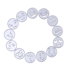 13pc/set Stencils Emoji Metal Cutting Dies Stencil For DIY Scrapbooking Photo Album Paper Card Embossing Folder Decorative Craft(China)