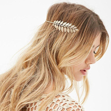 Charming New Gold Filled Leaf Crown Headband Grecian Hairband Wedding Hair Accessory Bridal Hair Jewlery Hair Accessories(China)