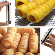 3pcs 2.8x12.5cm Stainless Steel Non-stick Pipe Bread Danish Tube Pastry Dessert Baking Mold(China)