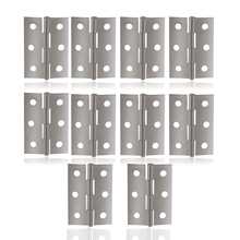 Mayitr 10pcs Stainless Steel Door Hinges Silver Cabinet Drawer Jewellery Box Hinge Boat Marine Hinge For Furniture Hardware(China)