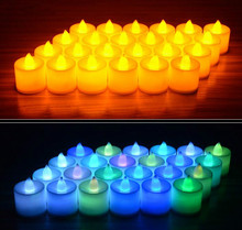 10Sets(240pcs) X Battery Operated Flameless Candles Faux Tea Light Candles For Wedding Birthday Christmas Easter Party(China)