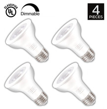 4 PACK Par20 LED Bulbs - Dimmable 9W(60W Equivalent), 650 Lumens, 3000K Soft White E26 Base - Home/Track/Studio Lighting(China)