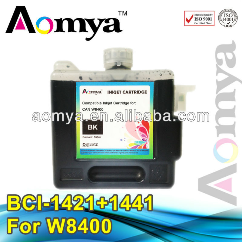 Large format cartridge for Canon W8400 BCI-1421/1441 Compatible ink cartridge with dye ink  (330ml) 6 colors<br><br>Aliexpress