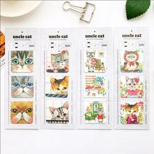 4 set/Lot Cat magnetic bookmarks cute Mini page clip for book mark Kawaii Stationery Office accessories School supplies 6214(China)