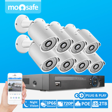 Buy MOOSAFE 720P IP Camera Video Security System 8CH PoE NVR Recorder System Kit Bullet Camera System 8 Channel POE NVR CCTV System for $509.90 in AliExpress store
