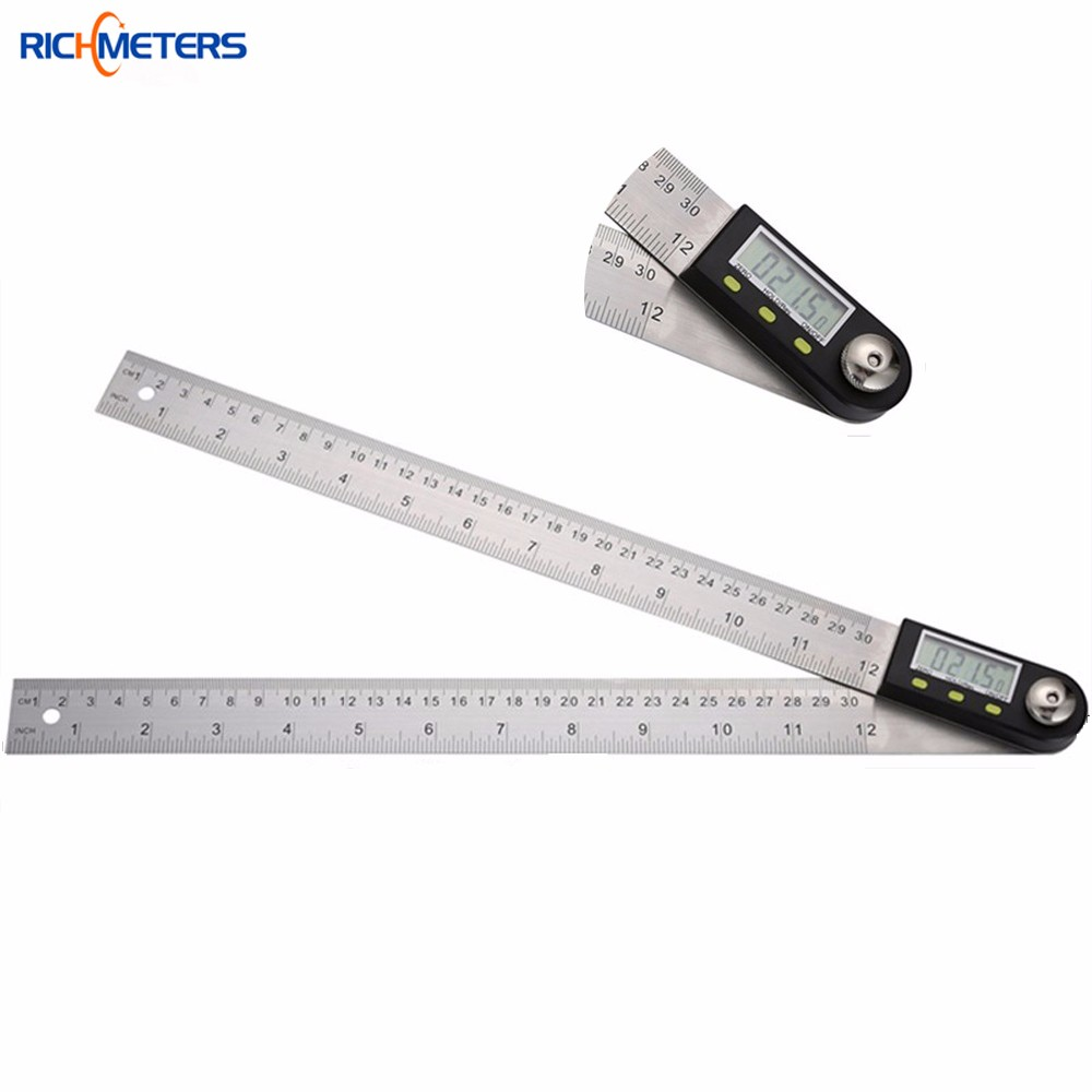 300 mm 12 Digital Angle Ruler Finder Meter Protractor Inclinometer Goniometer Electronic Angle Gauge Stainless Steel<br><br>Aliexpress