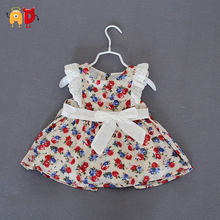 AD Elegant Baby Girls Dress Soft Cotton Fabric Quality Girls Dress  Summer Style Floral Baby Dress Children's Clothing Clothes