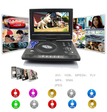 Hot 9.5 inch 270 Degree Rotating+TFT LCD Screen+Super Slim+Analog TV+Game+FM+Built-in Battery Car Portable DVD Player(China)