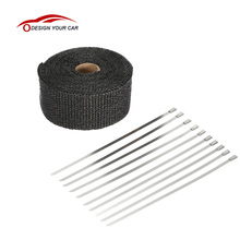 Motorcycle Hot Heat Exhaust Thermo Wrap Shield Protective Tan Tape Fireproof Insulating Cloth Roll Kits(China)