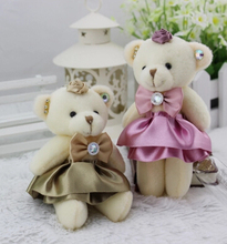 Teddy Bear Plush Toys Cartoon Wedding Joint Bear Wholesale Bouquet Doll Materials Toy Shops(China)