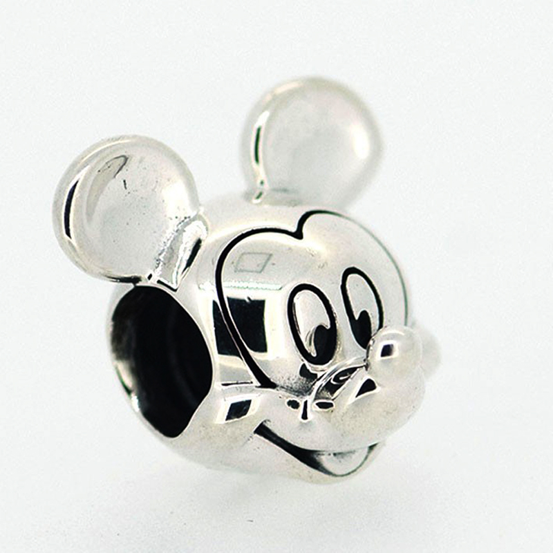 2017 New Free Shipping 1Pc Silver Bead Charm European Silver With Mickey Cartoon Charm Pendant Bead Fit Pandora Bracelet Gifts (1 (6)