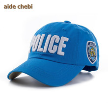 [aide chebi] casquette 2017 The New Kids High Quality Cotton Police Baseball Caps for Boys dad hat Girls Bone Gorras snapback(China)