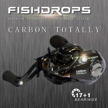 Carbon Fiber 167g Two Brake Systems Baitcasting Fishing Reel 18BB Carp Fishing Reel High Speed Gear Ratio 7.2:1 Bass Fishing