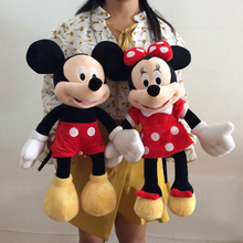 1pair 45cm=16.9inch Original Mickey Mouse and Minnie Mouse stuffed animals plush toys high quality Pelucia soft doll(China)