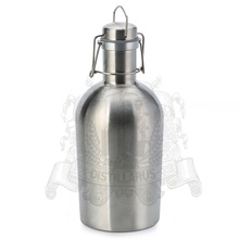 Stainless steel AISI 304 bottle with cap 2.0L