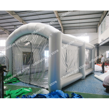 Free ship to door!cheap inflatable spray booth,portable spray paint booth for sale,mobile work station car painting room(China)