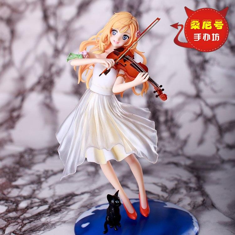 Your Lie in April Arima Kousei Miyazono Kaori CostumesFigure Shigatsu wa Kimi no Uso Violin Uniforms PVC Action Figure Model<br>