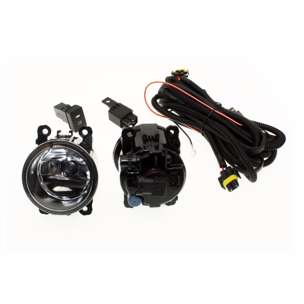 For DACIA LOGAN Saloon LS_   H11 Wiring Harness Sockets Wire Connector Switch + 2 Fog Lights DRL Front Bumper Halogen Car Lamp <br>