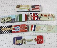 Wholesale study stationery National flag student tool school office use pencil case . pencils box . tin boxes . metal case . Tin