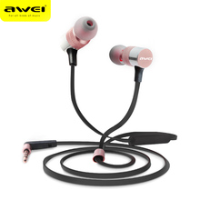 AWEIES ES-20TY Earphone Wired Stereo HiFi Music 3.5MM Plug Foldable In-Ear Built-in Mic for Smart phone,iPod,Portable Media play(China)