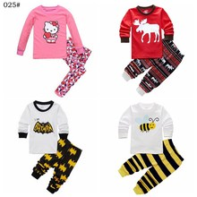 New Arrive Children Baby Girl's Kids Long Sleeve Pajamas Sets Cartoon Girls Sleepwear Homewear Pyjamas Suits(China)