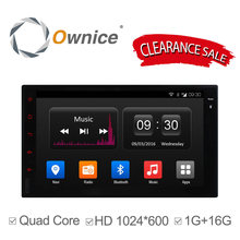 Ownice C300 2 Din Universal Android 4.4 Full Touch Panel GPS Navigation Car Radio Player Quad Core mirror link wifi bt No DVD(China)