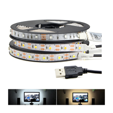 3528 SMD 50CM 1M 2M IP65 / IP20 DC 5V USB power LED Strip light RGB / White / Warm White For TV Backgroud Lighting Indoor Home