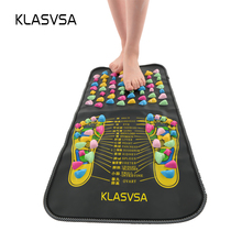 KLASVSA Chinese Reflexology Walk Stone Pain Relieve Foot Leg Massager Mat Health Care Acupressure(China)