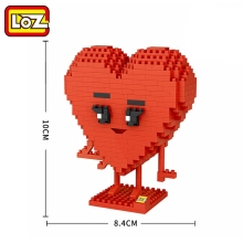 LOZ 9777 Lovers Gift Girlfriend Gift LOVE Diamond Blocks Brick DIY Brick Toy Gift Brick Model Educational Toys Children