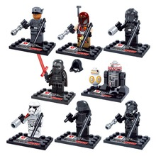 8pcs Newest Star Wars the Force Awaken Mini Action Figures Kylo Ren BB-8 R5-D4 Building Blocks Toys set for kids Dargo D867