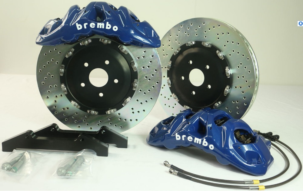 4-Genuine Brembo Rear /& Front Disc Brake Rotor/'s New