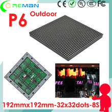 Waterproof taxi 3g video panel led module p6 smd3535 / excellent effect high brightness taxi roof full color led module p6 32*32(China)