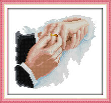 Hold Hands Patterns Counted Cross Stitch 11CT 14CT Cross Stitch Sets Wholesale Chinese Cross-stitch Kits Embroidery Needlework