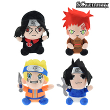 4pcs/lot Japanese Anime Naruto Gaara & Hatake Kakashi & Uzumaki Naruto Plush Toys Doll Soft Stuffed Toys Gifts for Children