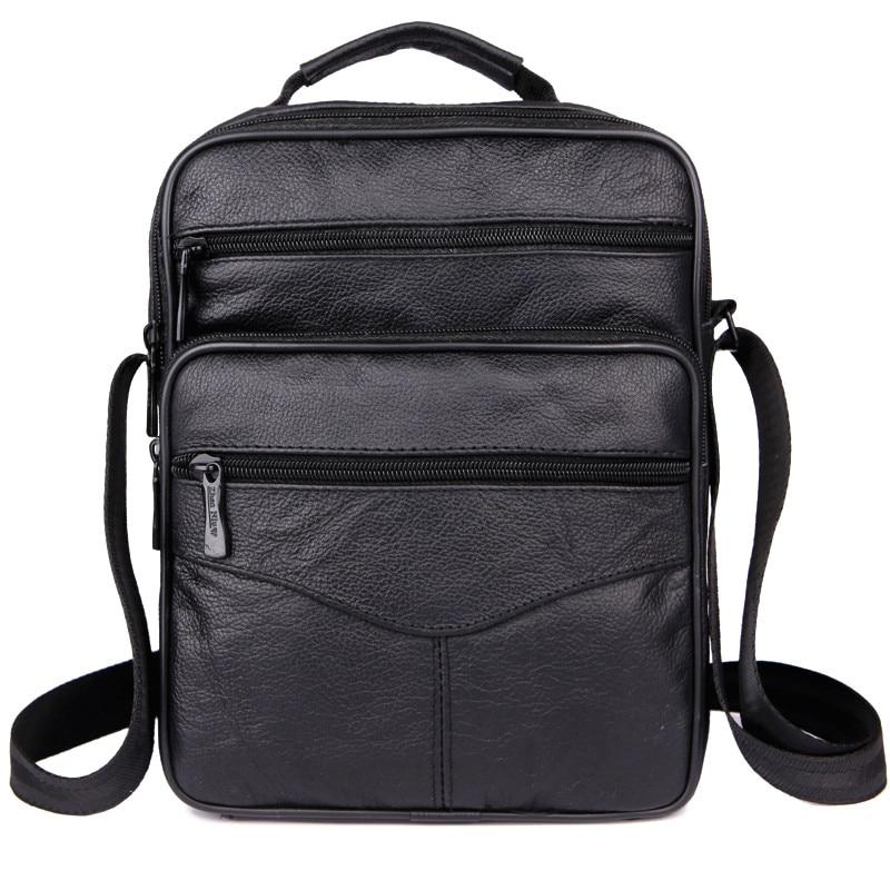 hot! Mens fashion 100% genuine leather messenger bag men classic retro design cow leather shoulder bag full of small travel bag<br><br>Aliexpress