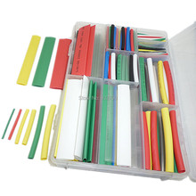 385pcs Heat Shrink Heatshrink Wire Cable Tubing Tube Sleeving Sleeve Wrap Various Sizes & Lengths& Color Tube Tubing Wrap Wire