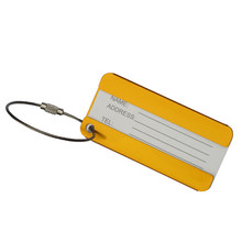 New Arrival Business Simple Luggage Tag Luggage Checked Boarding Elevators protective covers luggage tag travel accessories(China)