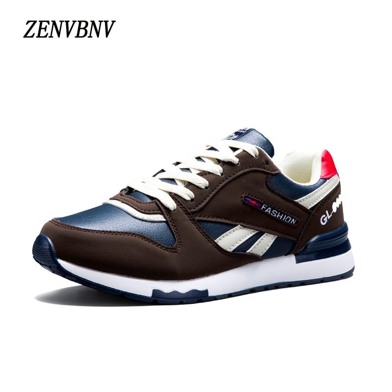 ZENVBNV 2017 Autumn Mens Fashion Casual Shoes Trend Male Leather Comfortable Men Shoes Sneaker Flats Top Classic Leather Shoes<br>