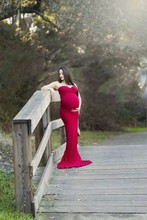Custom Made Sweetheart Red Maternity Prom Gowns Fast Delivery Cheap Mermaid Soft Long Pregnant Prom Dresses Plus Size