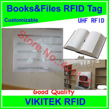 Books and files UHF RFID tag customizable adhesive 860-960MHZ Higgs3 EPC C1G2 ISO18000-6C can be used to RFID tag and labe