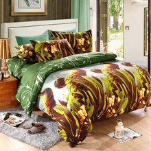 4pcs Queen Size 3D Printed Bedding Set Duvet Cover Bedclothes Home Textiles Peacock Pattern Quilt Cover+Bed Sheet+2 Pillowcases(China)