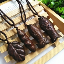 Vintage Necklace Big Pendant Ethnic Necklace Wooden Fish Long Necklace Ethnic Jewelry Maxi Necklace For Women Wholesale Price